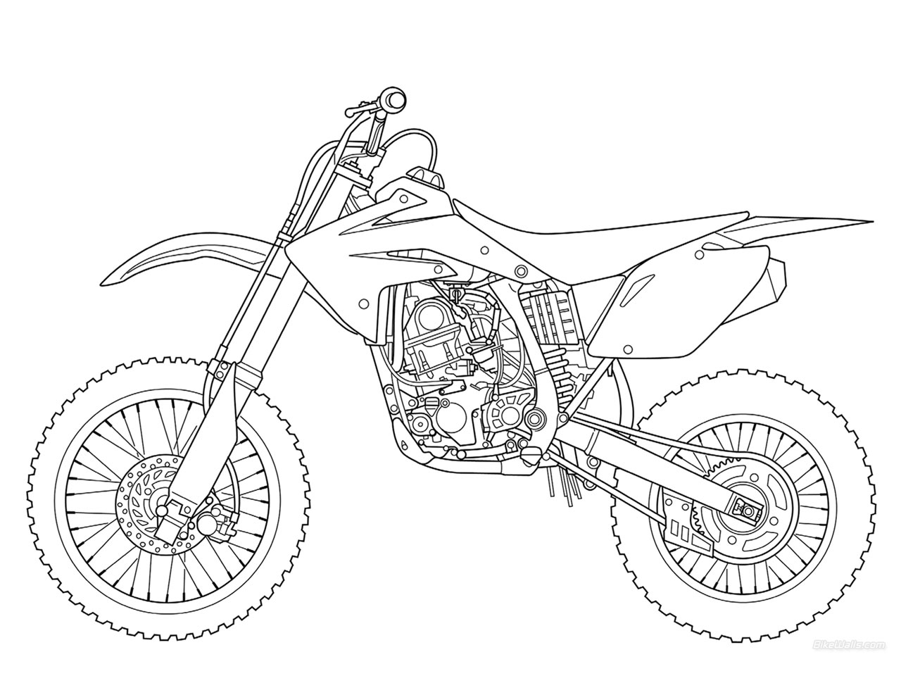 adult coloring pages - dirt bike coloring pages