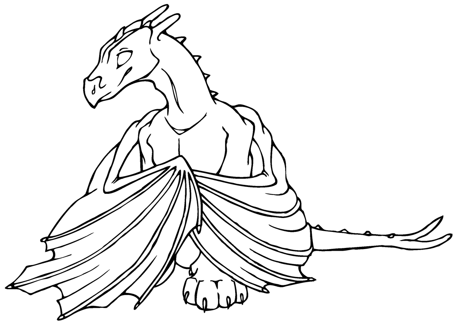 adult coloring pages - dragons coloring pages