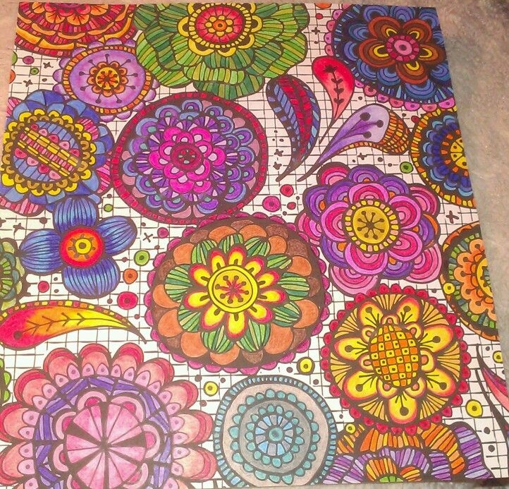 adult coloring pages colored - living wonder color art