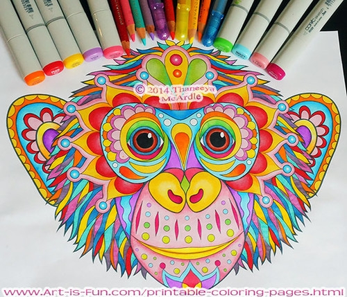 adult coloring pages colored - coloring pages for adults already colored
