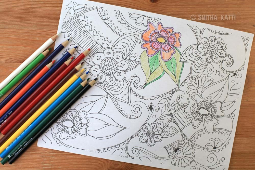 adult coloring pages colored - adult coloring pages
