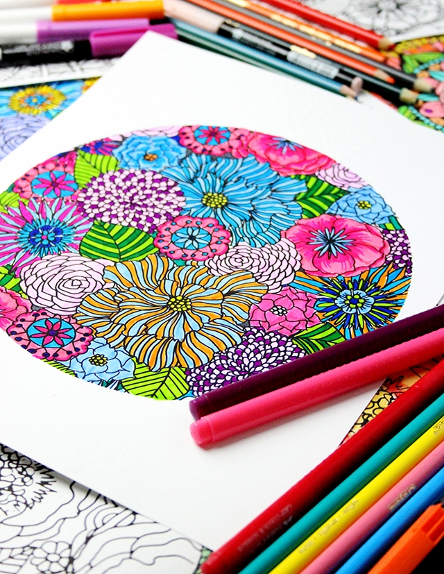 adult coloring pages colored - my favorite ways to color and free