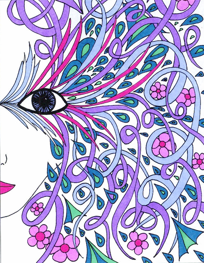 Adult Coloring Pages Colored - Coloring Books Adult Coloring Pages