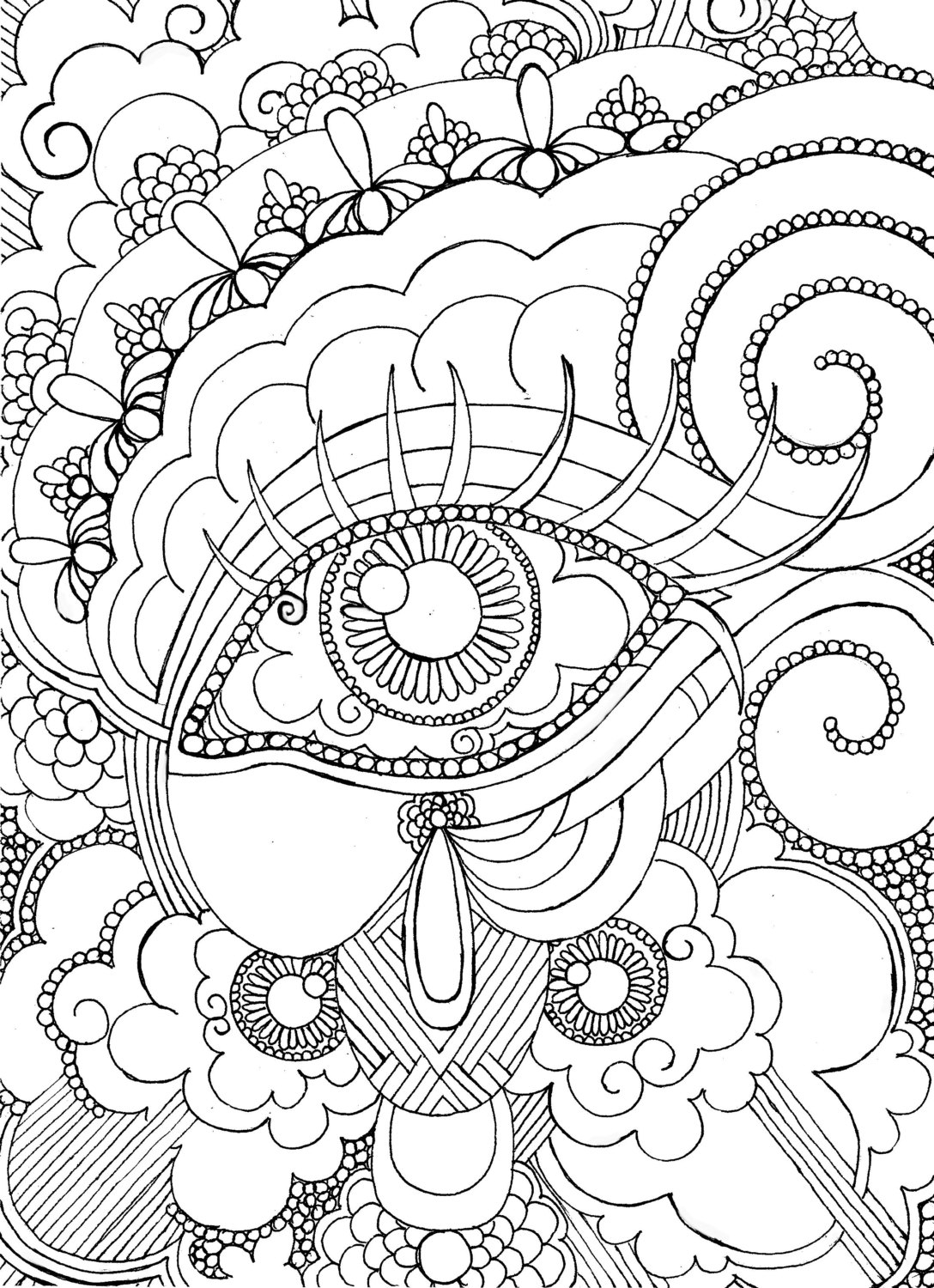 Adult Coloring Pages Colored - Eye Want to Be Colored Adult Coloring Page Steampunk