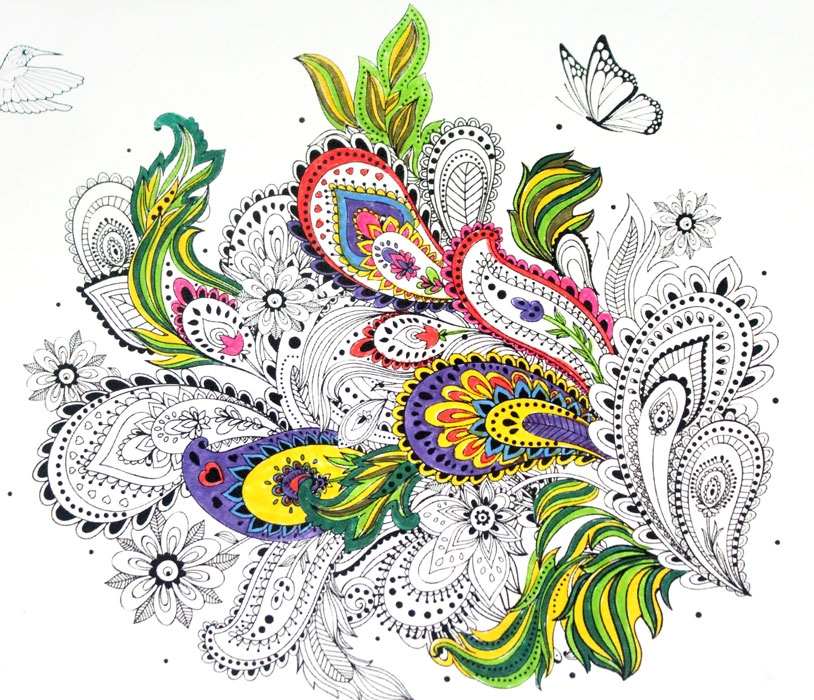 adult coloring pages colored - free printable coloring pages for adults