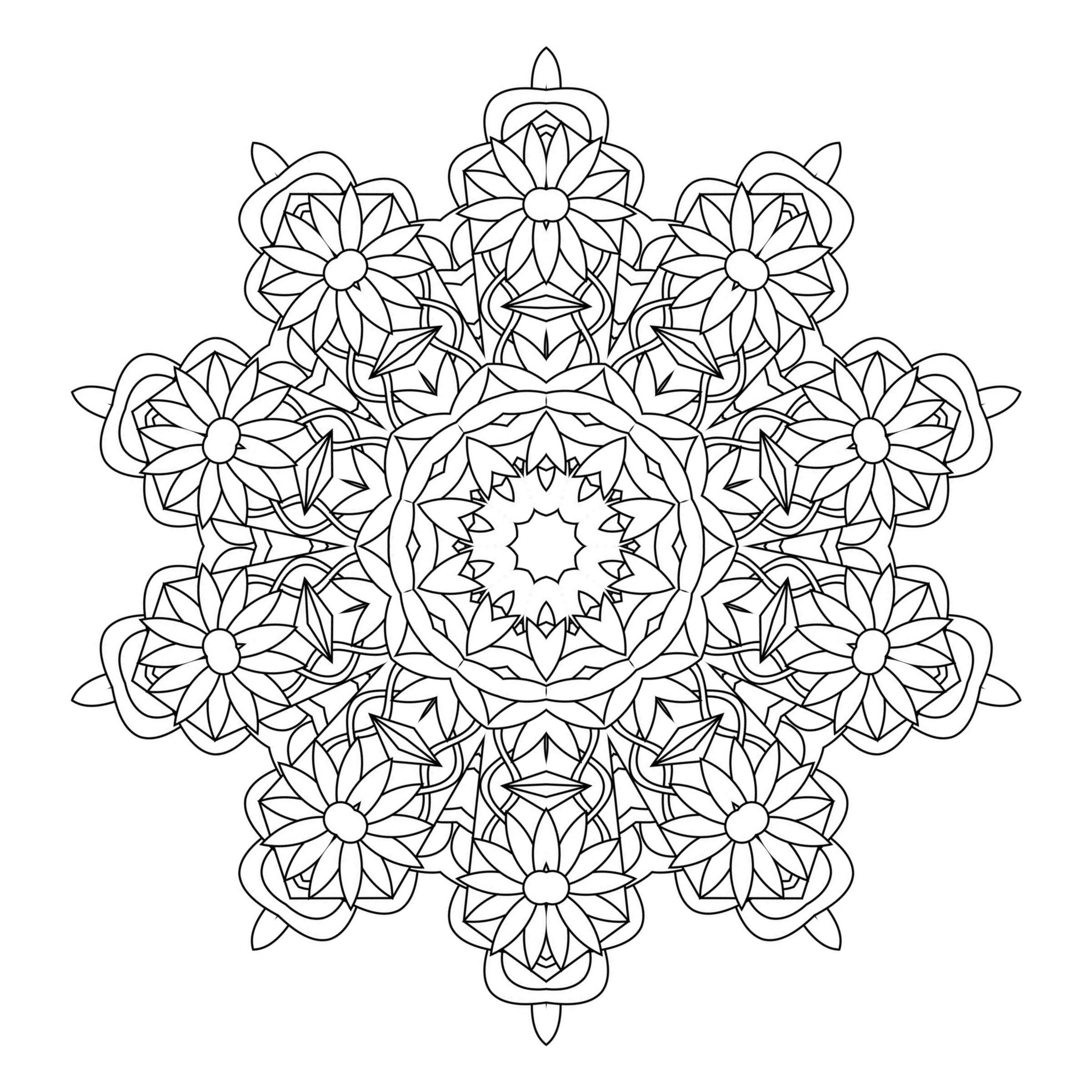 adult coloring pages colored - kaleidoscope coloring pages for adults