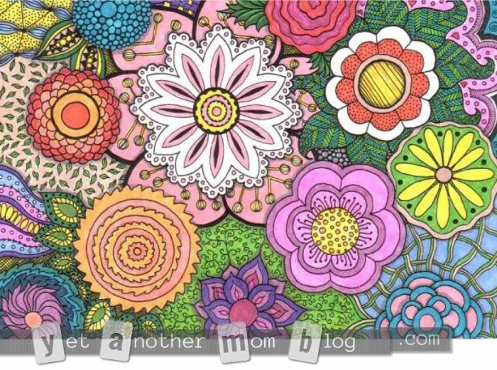 adult coloring pages colored - coloring pages for adults zentangle flowers 1