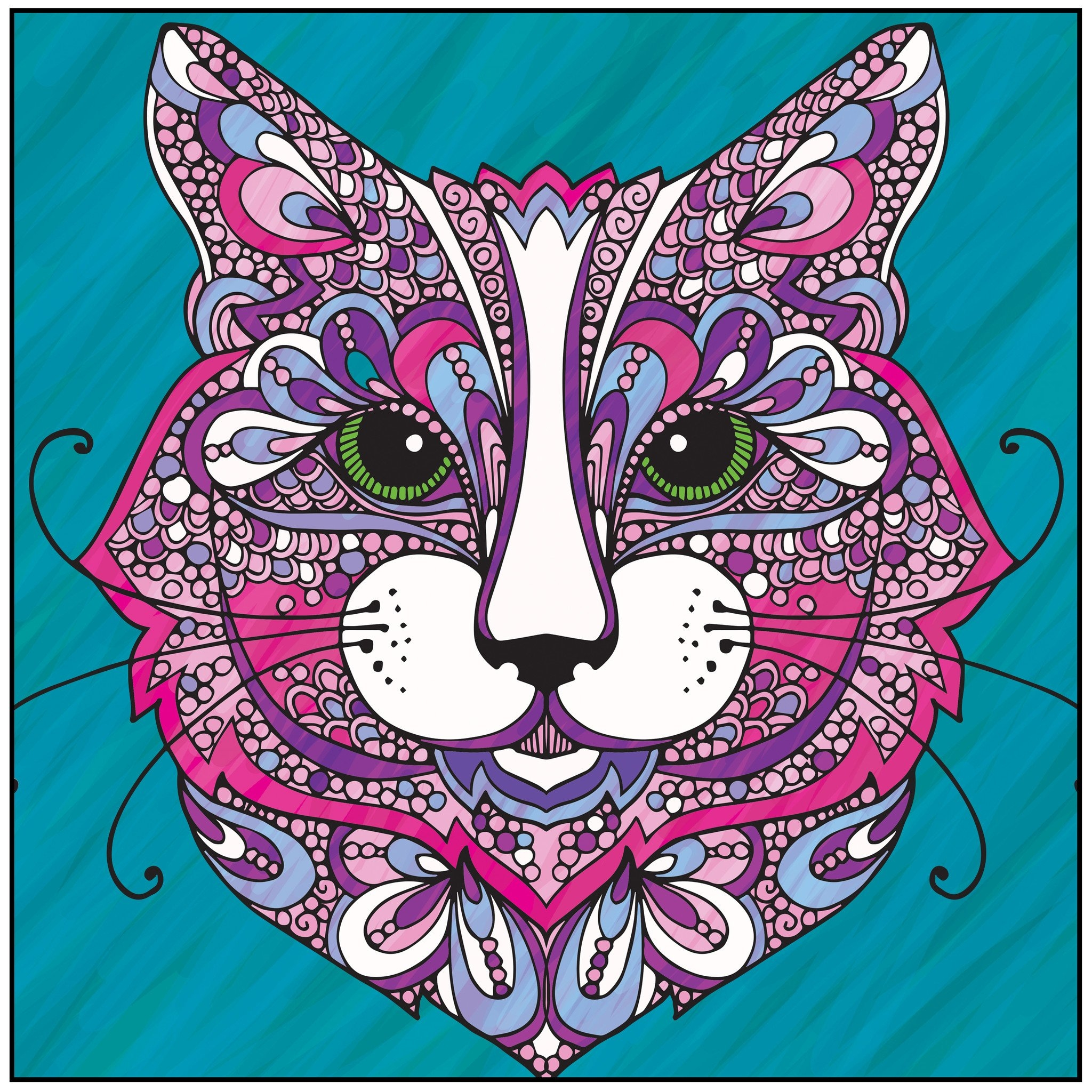 adult coloring pages colored - wild about cats