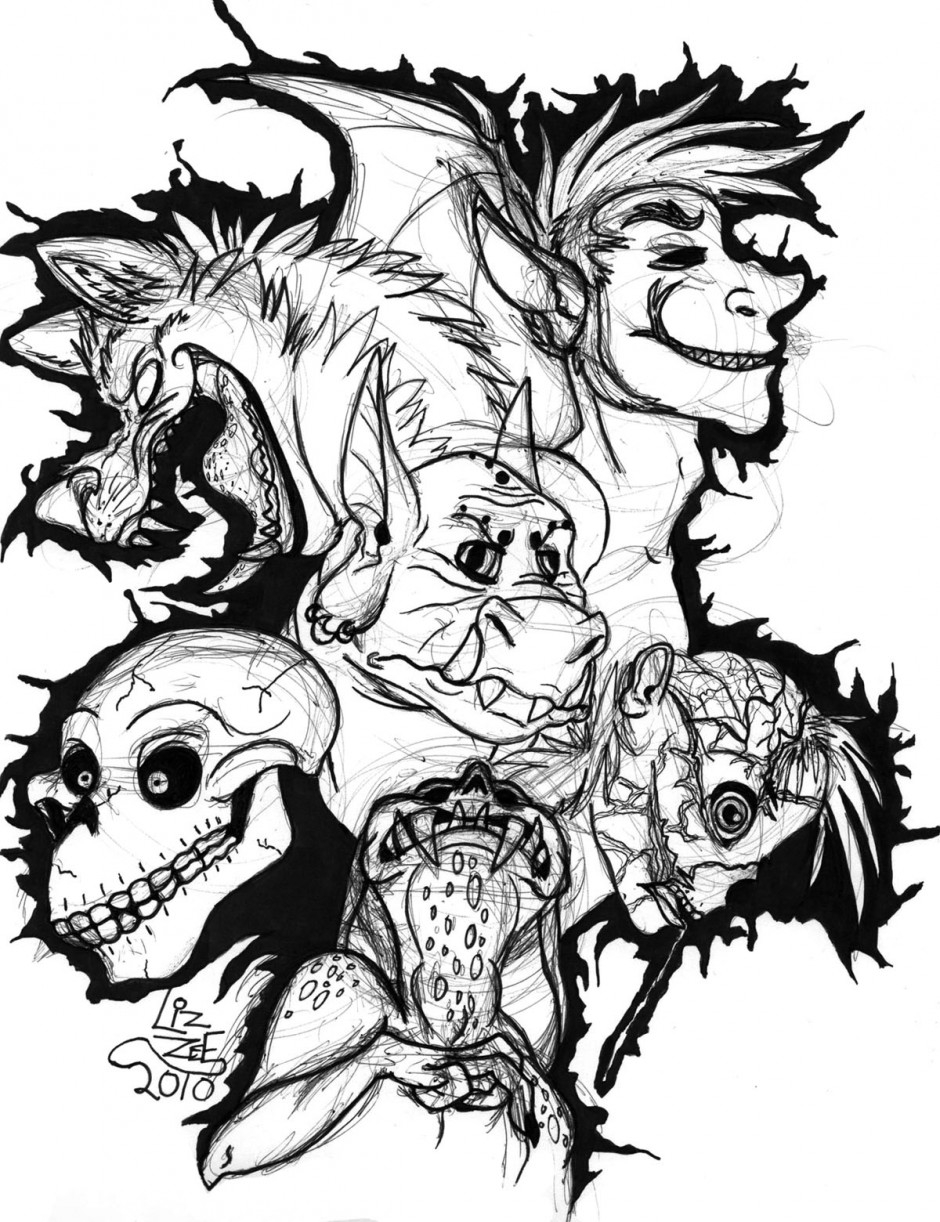 adult coloring pages people - scary coloring pages