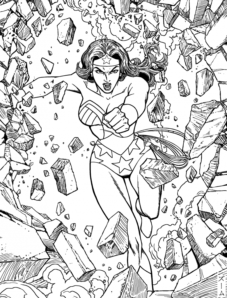 adult coloring pages people - wonder woman coloring pages