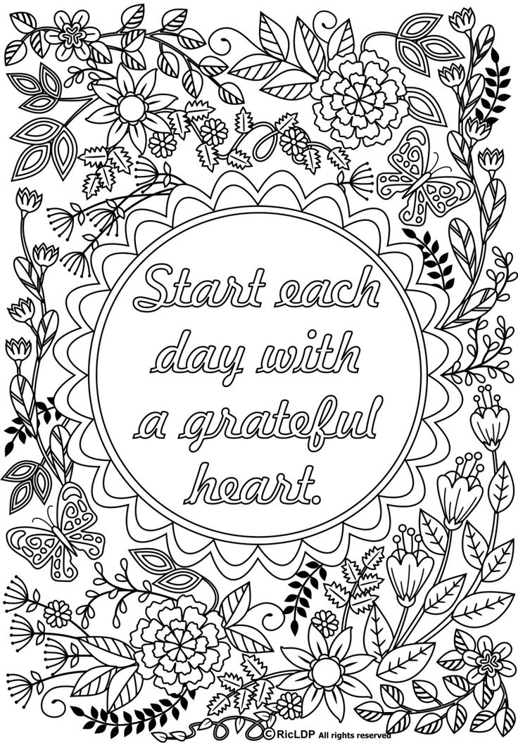 23 Adult Coloring Pages Quotes Collections
