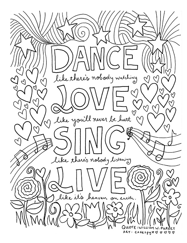 adult coloring pages quotes - free coloring book pages inspiring quotes