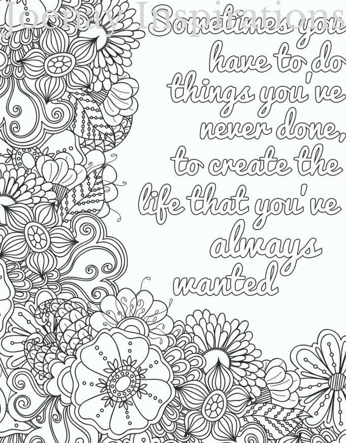Adult Coloring Pages Quotes - Quote Adult Coloring Page by Joenayinspirations Words