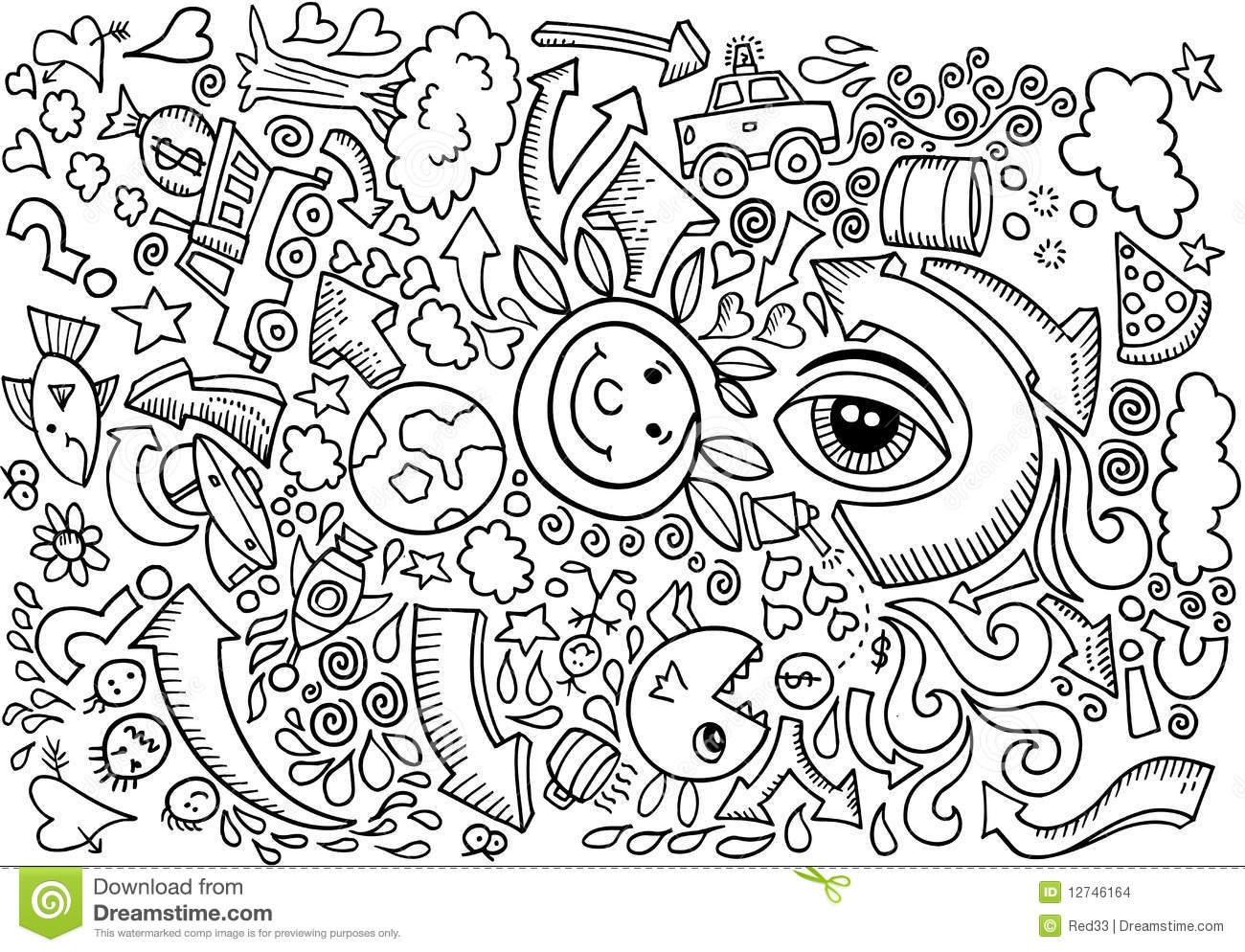 adult coloring pages with quotes - stock images doodle sketch drawing vector image