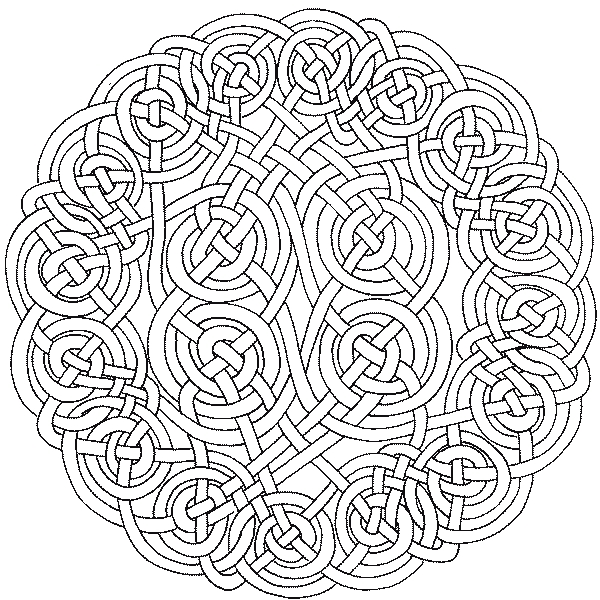 advanced coloring pages - celtic 2