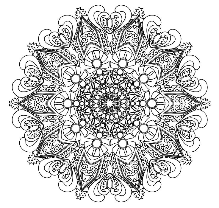 advanced mandala coloring pages - coloring pages