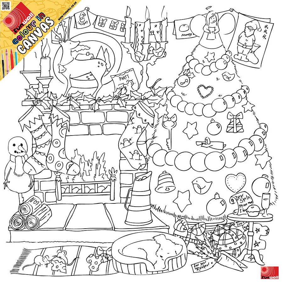 advent coloring pages - christmas colour in canvas