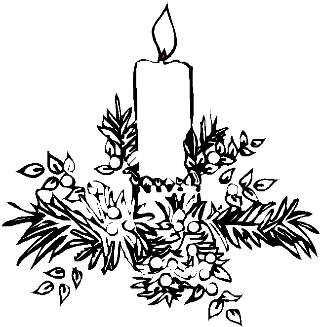 advent wreath coloring page - candles coloring pages