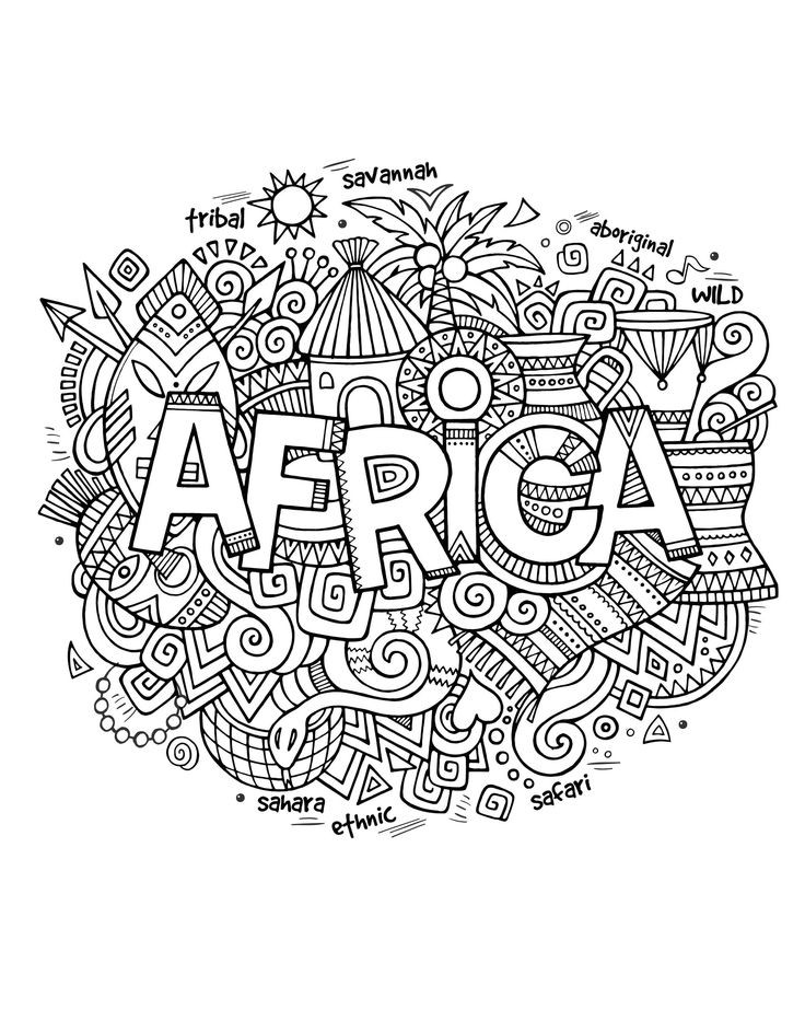 africa coloring pages - abstract coloring pages