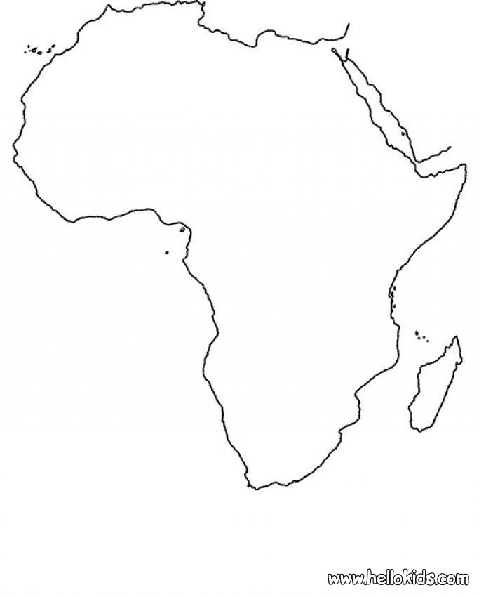 africa coloring pages - africa map