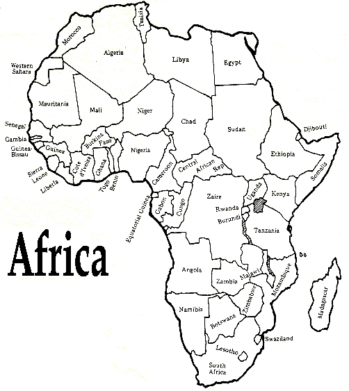 africa coloring pages - africa