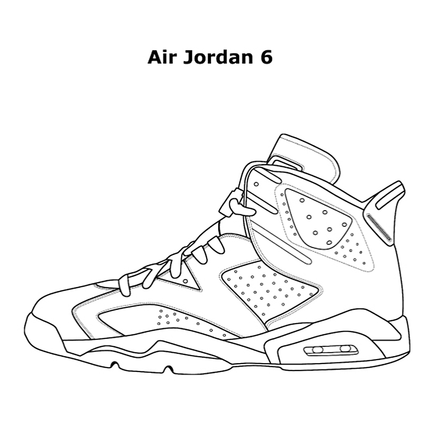 air jordan coloring pages -
