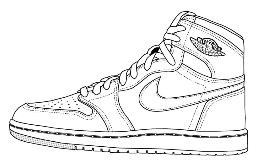 air jordan coloring pages - r=jordans print pages
