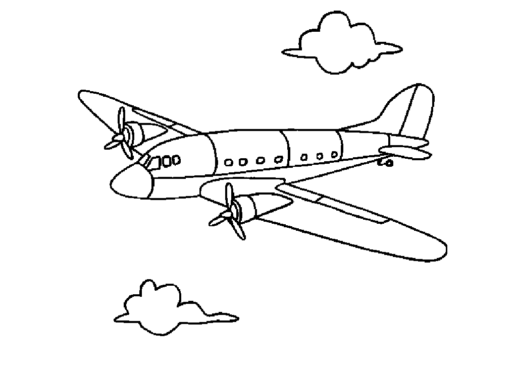 Airplane Coloring Pages - Free Printable Airplane Coloring Pages for Kids