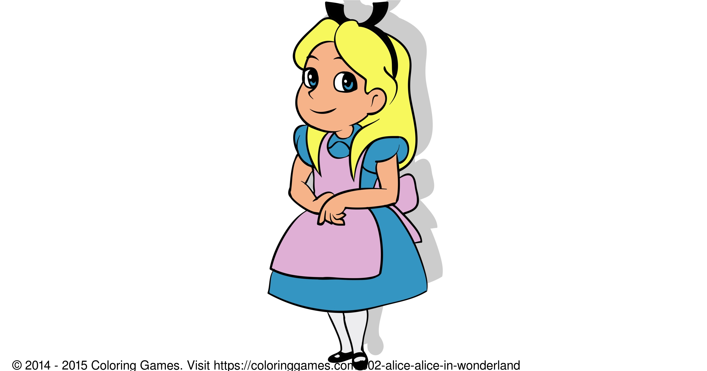 alice in wonderland coloring pages - 602 alice alice in wonderland