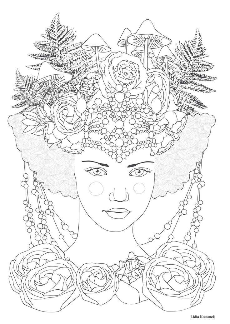 alice in wonderland coloring pages - dessin anti stress tattoo