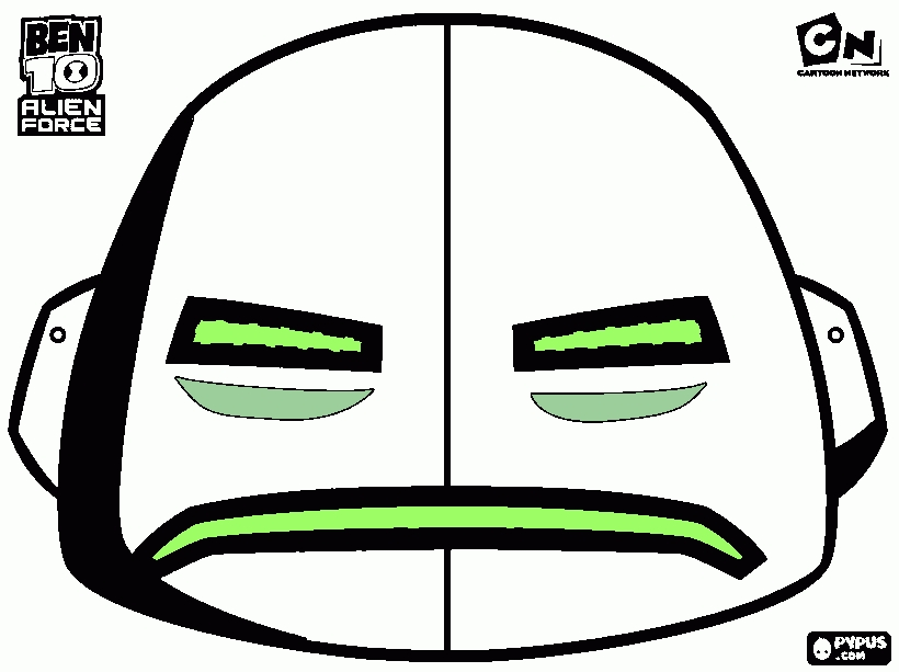 alien coloring pages - coloring page ben ten mask 3