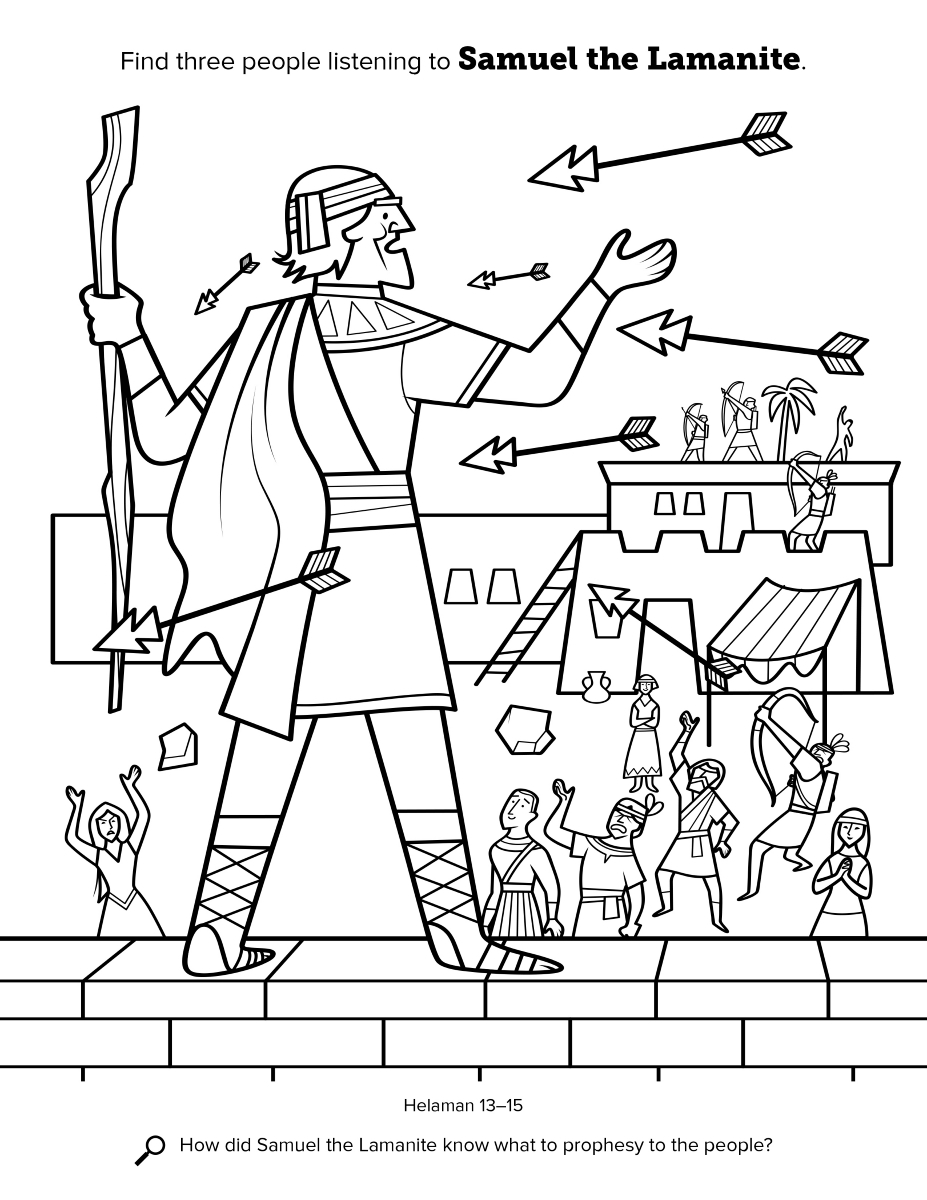 all saints day coloring pages - book mormon coloring book samuel lamanite lang=eng