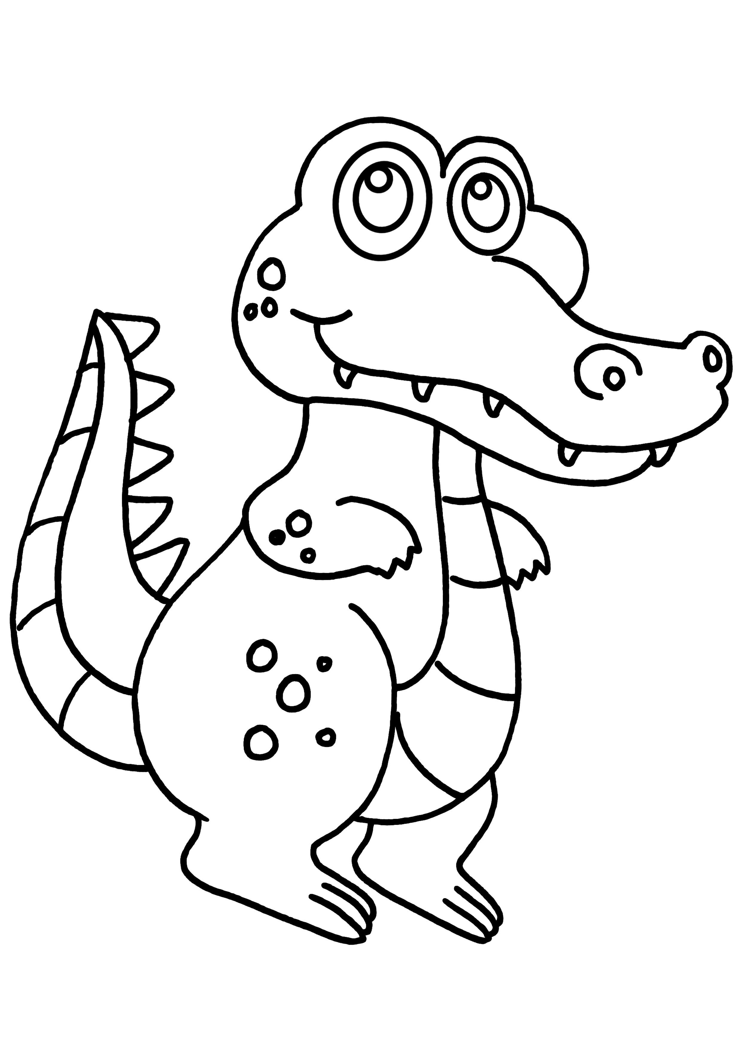 alligator coloring pages - coloriage crocodile marrant