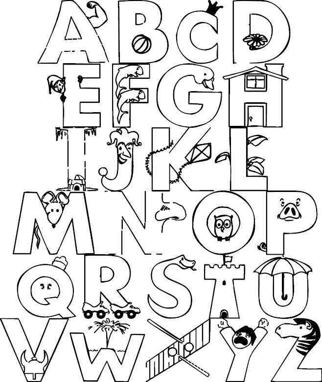 Alphabet Coloring Pages - Alphabet Color Page Az Coloring Pages