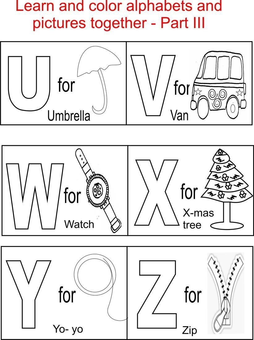 alphabet coloring pages - alphabet coloring pages printable free
