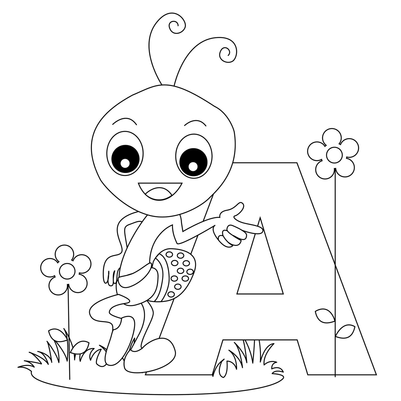 alphabet coloring pages - free coloring pages alphabet letters