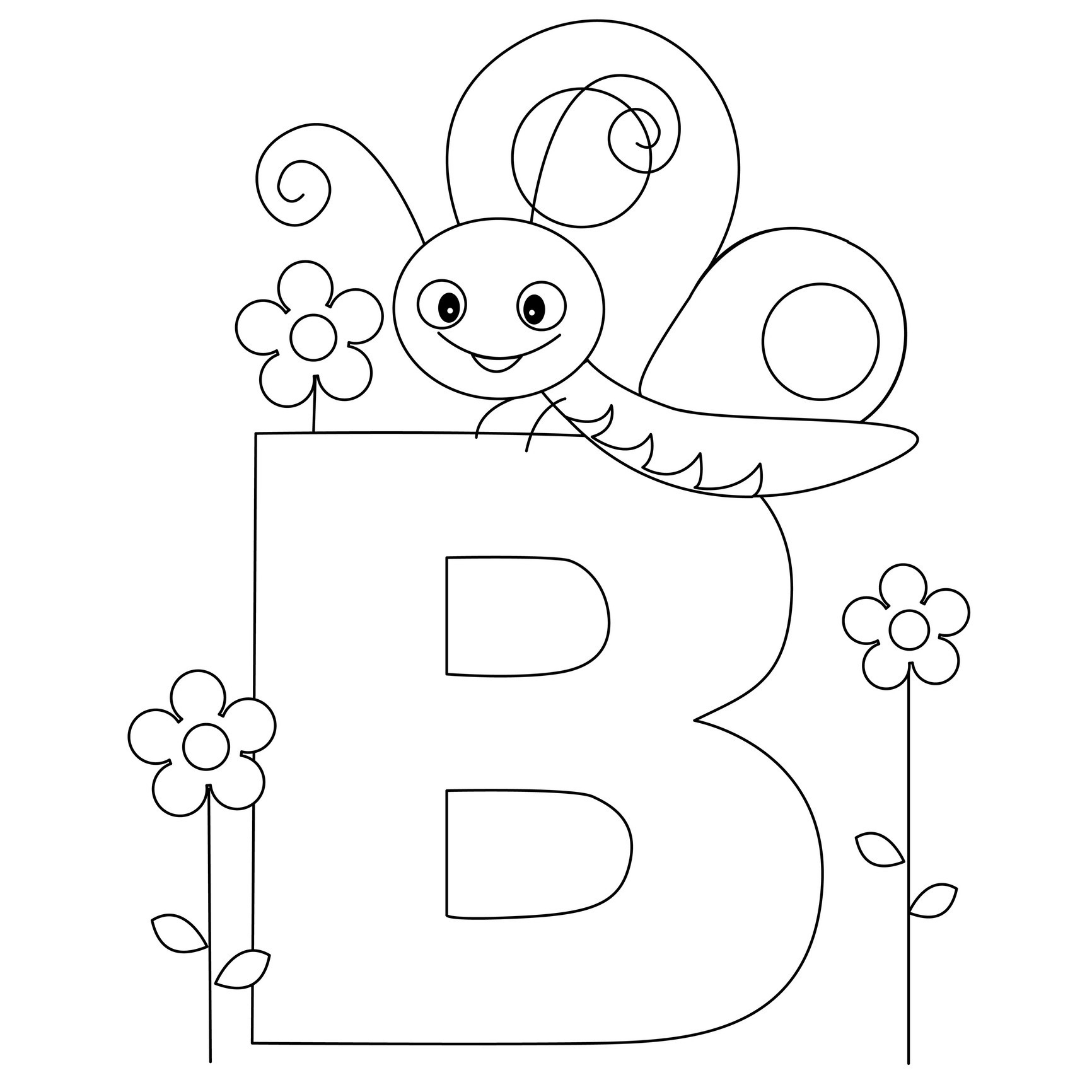 alphabet coloring pages - free printable alphabet coloring pages kids