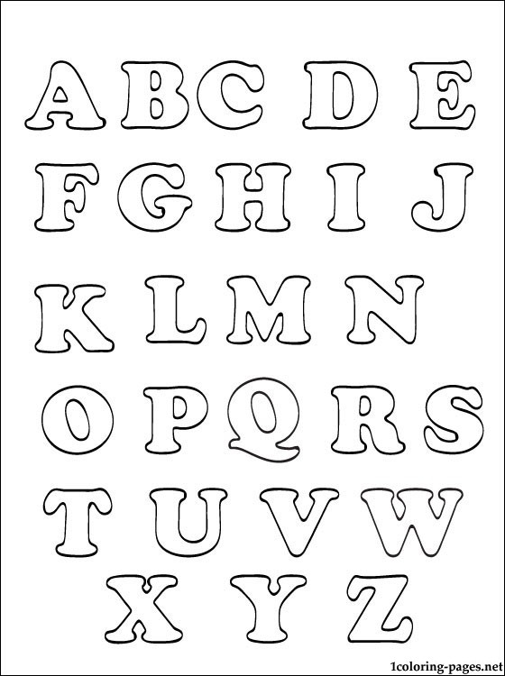20 Alphabet Coloring Pages Az Selection Free Coloring Pages