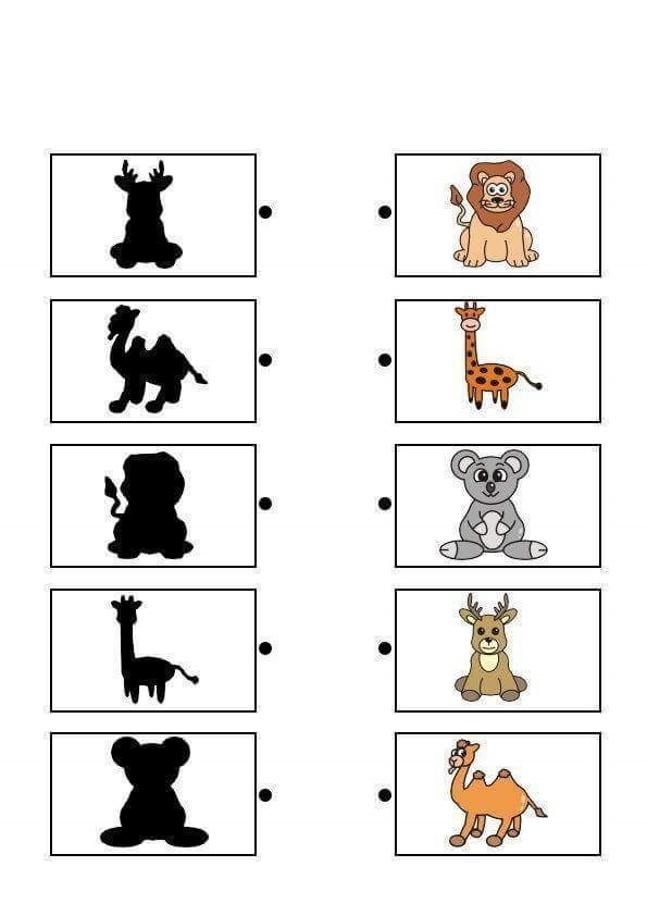 alphabet coloring pages preschool - forest animals shadow matching sheets