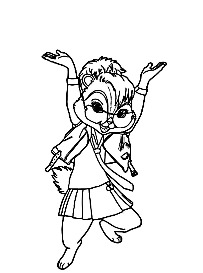 27 Alvin And The Chipmunks Coloring Pages Collections Free