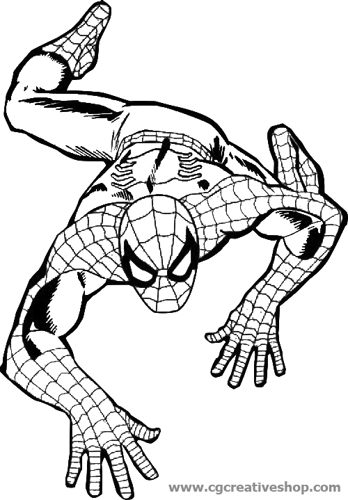 amazing coloring pages - 3594 spiderman disegno per bambini da colorare