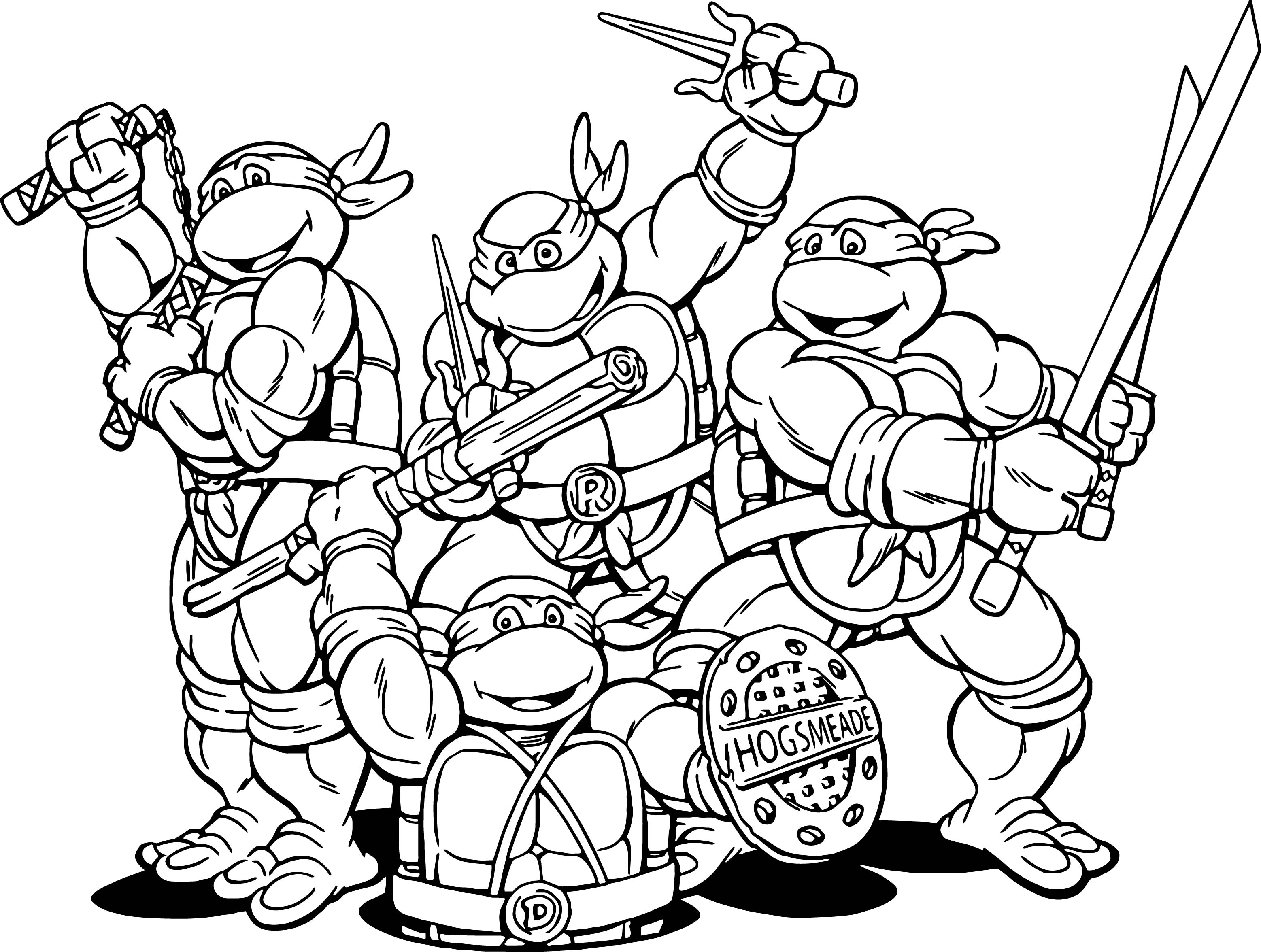 amazing coloring pages - teenage mutant ninja turtles cartoon coloring page