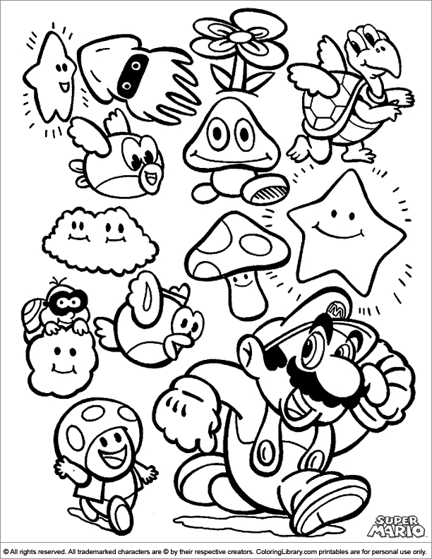 amazing coloring pages - coloriage mario