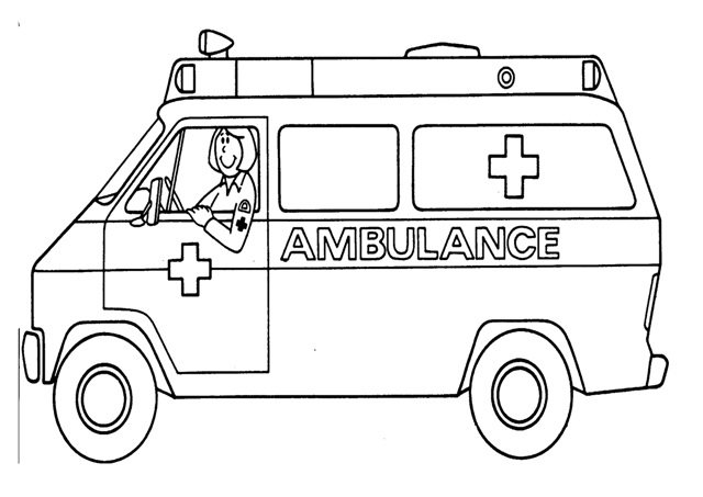 ambulance coloring pages -