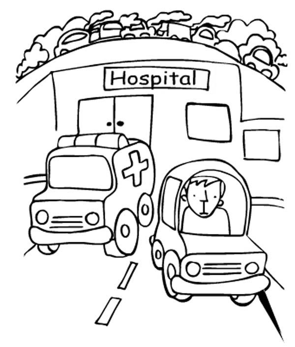 ambulance coloring pages - ambulance coloring page