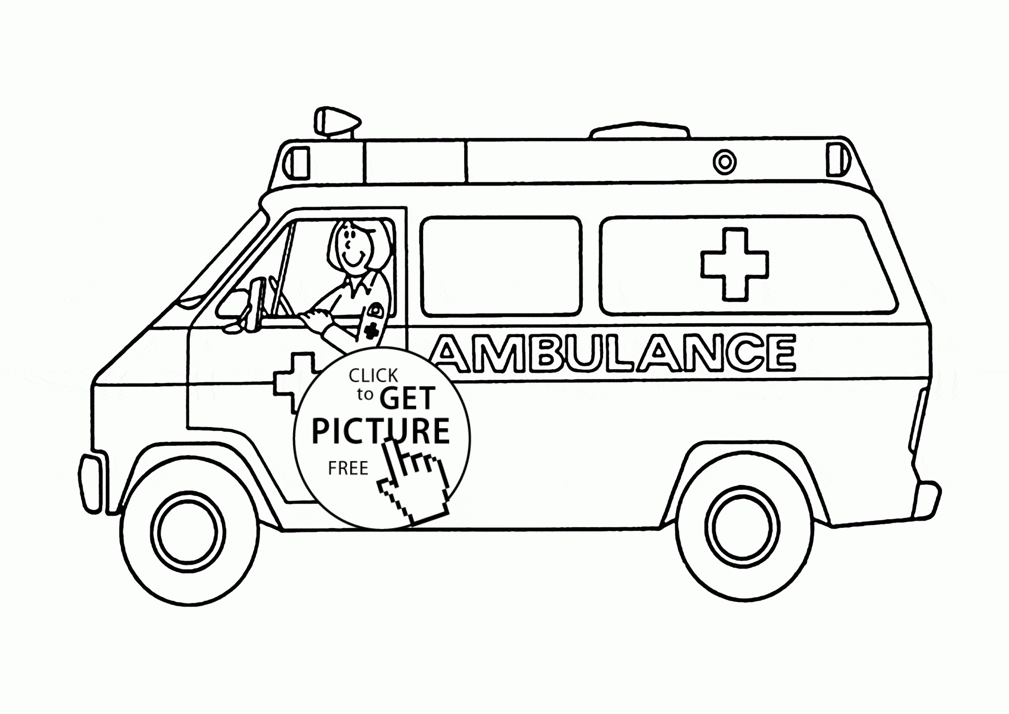ambulance coloring pages - ambulance coloring page for kids transportation coloring pages printables free 2