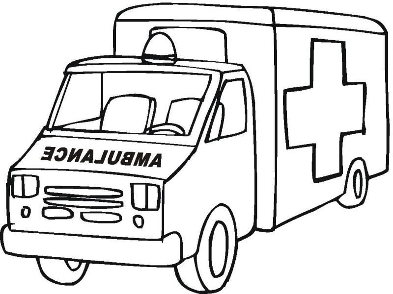 ambulance coloring pages - ambulance coloring pages