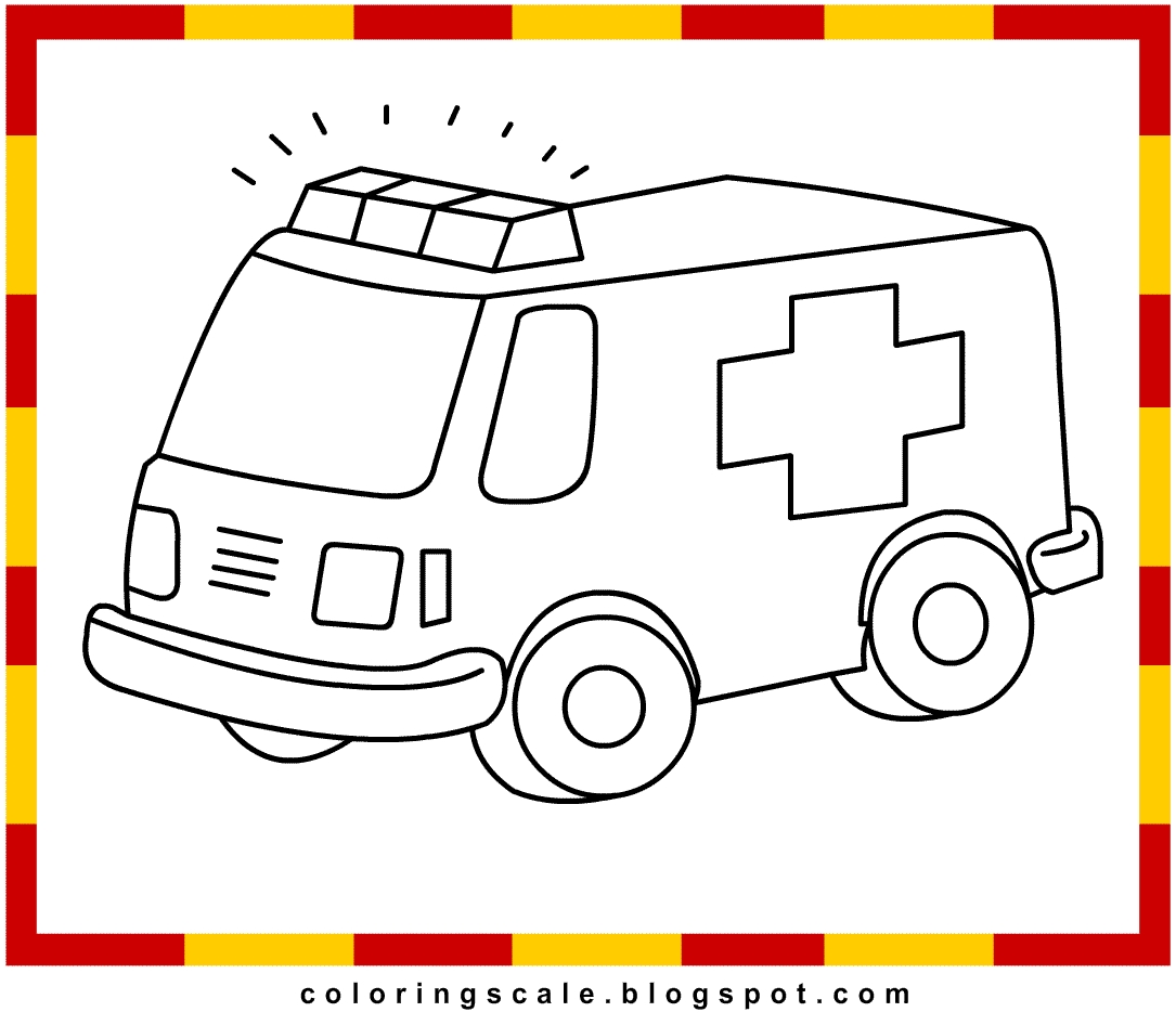 ambulance coloring pages - ambulance coloring pages for kids