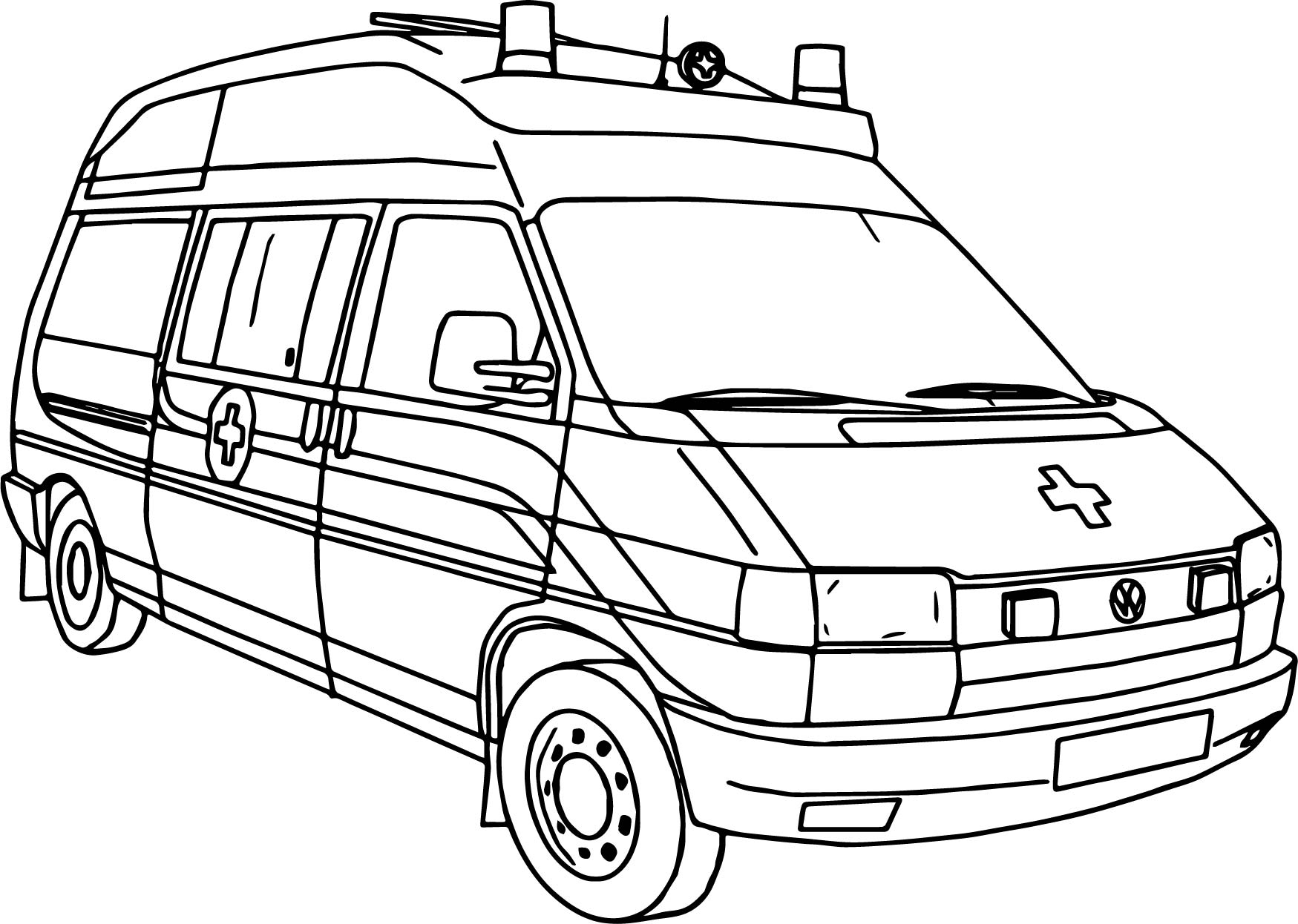 ambulance coloring pages - picture ambulance coloring page