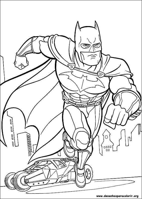 america coloring pages - batman em acao